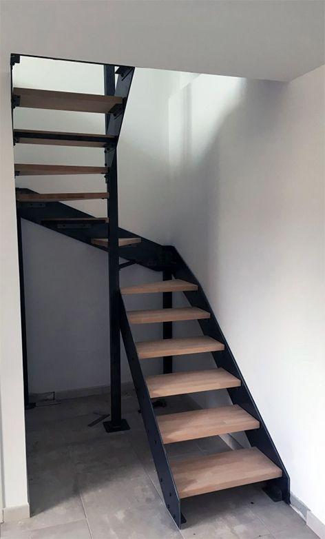 Escalier En Kit A Limons Lateraux Decoration Maison Escalier