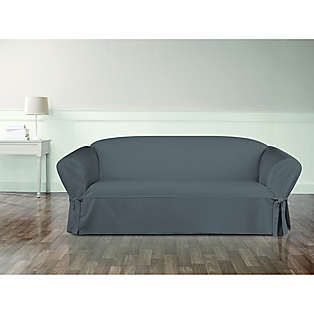 Sure Fit Essential Twill Sofa Slipcover With Images