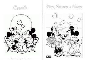 Fazendo A Nossa Festa Colorir Mickey E Minnie Livrinho De