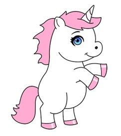 How To Draw A Unicorn Cartoon With Images Unicorn Drawing