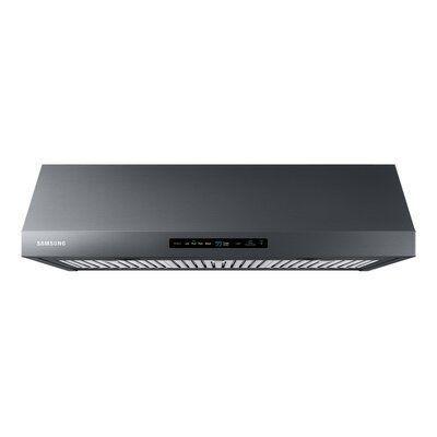Samsung 36 600 Cfm Smart Under Cabinet Hood Finish Black Stainless Steel Black Stainless Steel Samsung Stainless Steel