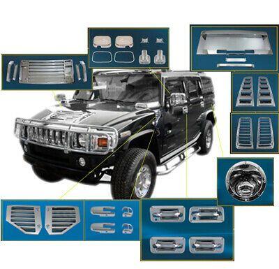Sponsored Ebay 03 05 Hummer H2 Chrome Cover Trim 36pcs Combo Door Rear License Frame Door Hinge Hummer H2 Hummer Vent Covers
