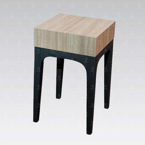 Table de chevet / contemporaine / en bois / pour chambre d ...