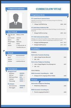 Contoh Cv Curriculum Vitae Yang Baik Menarik Dan Benar File Word Contoh Surat Lamaran Kerja Surat Resmi Su Cv Kreatif Desain Resume Creative Cv Template