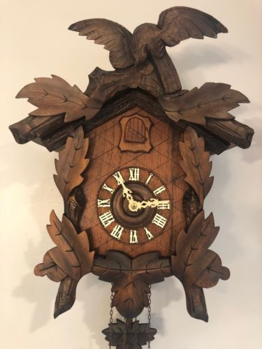 Antique American Eagle Cuckoo Clock See
