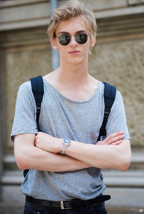 Dominik Sadoch - Milan Fashion Week SS16Model off Duty - Photo by YuYang