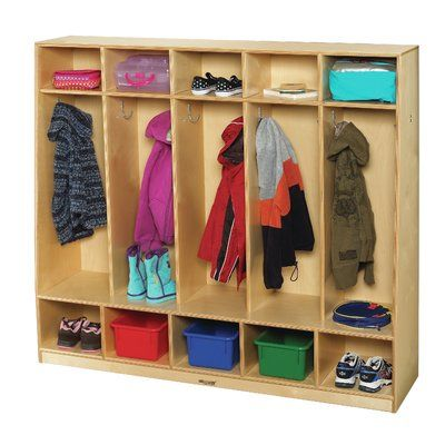 Childcraft 5 Section Coat Locker With Cubby Cubby Storage