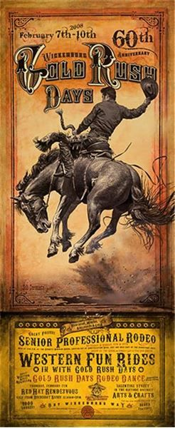 Gold Rush Days in 2019 | Prints & Posters | Cowboy art