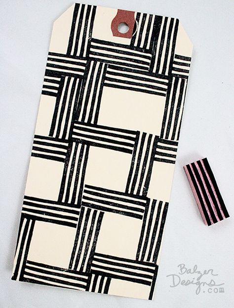 ...eraser stamp stripes