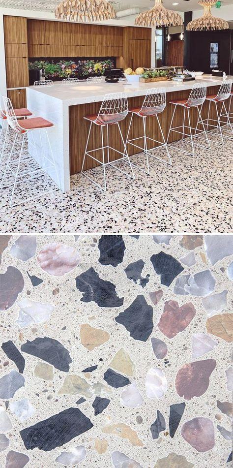 Tiles - Venice Alabaster Mixed Chip Terrazzo Tile
