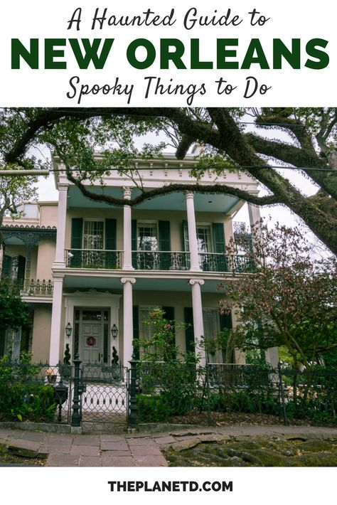 Explore the most haunted places in New Orleans. Be it on a haunted new Orleans tour or on your own, how to explore the city of the dead New Orleans Vacation, Visit New Orleans, New Orleans Travel, Hotels In New Orleans, Most Haunted Places, Spooky Places, Oh The Places You'll Go, Places To Travel, Travel Pics