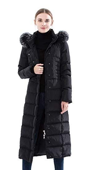 e89d55f8e New Obosoyo Women's Hooded Thickened Long Down Jacket Maxi Down ...