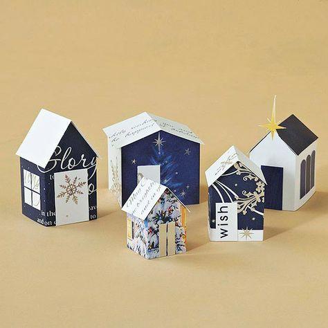 Miniature Christmas Card Village