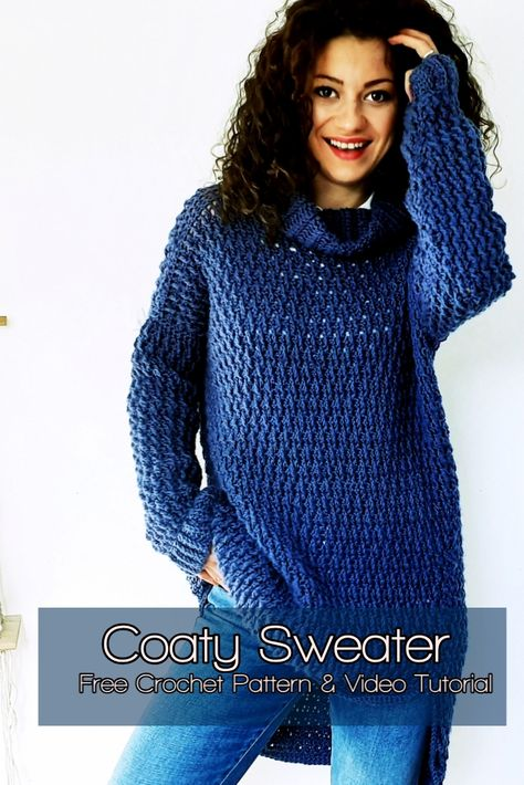 Pattern Remake – ByKaterina the crochet at Sc Crochet, Crochet Tunic Pattern, Crochet Jacket, Crochet Woman, Knitting Patterns, Crochet Patterns, Crochet Tops, Crotchet, Crochet Stitches