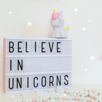 Veilleuse Licorne A Little Lovely Company Deco Chambre Fille