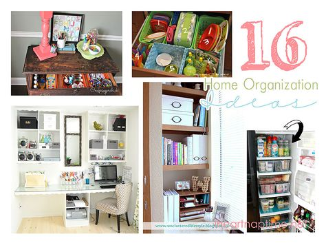 16 Great Home Organizing Ideas I Heart Nap Time | I Heart Nap Time - How to Crafts, Tutorials, DIY, Homemaker