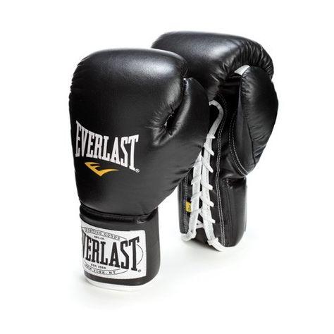 Everlast Pro Style Full Mesh Palm Training Boxing Gloves Black