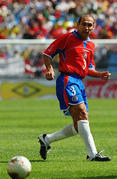 Luis Marin of Costa Rica in action during the Group C match ...