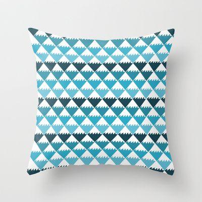 Hawaiian Waters Pattern Throw Pillow #hawaii #ocean #pattern #blue $20