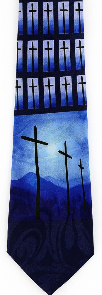 Calvary crosses mens necktie christian easter bible religious gift calvary crosses mens necktie christian easter bible religious gift him tie new easter religious negle Image collections