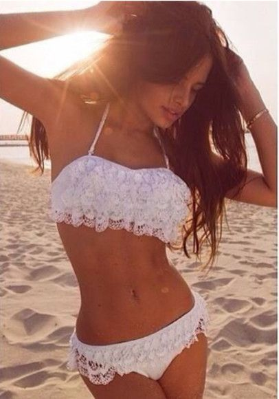 swimwear bikini summer White bikini