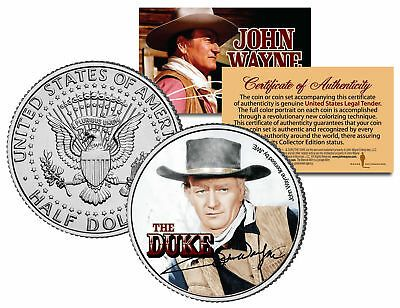 $2 Bill in 8x10 Collectors Display JOHN WAYNE The Duke Genuine Legal Tender U.S
