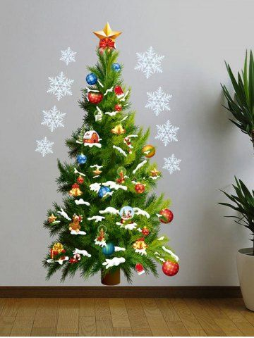Modern Christmas Tree Removable Vinyl Wall Art Sticker