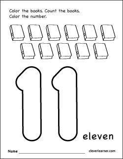 Free Number 11 Worksheets For Preschool Preschool Math Numbers Free Preschool Worksheets Number Activities Preschool