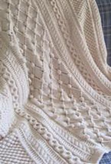 Ravelry: Diamonds and Bobbles Afghan pattern by Lee Gant