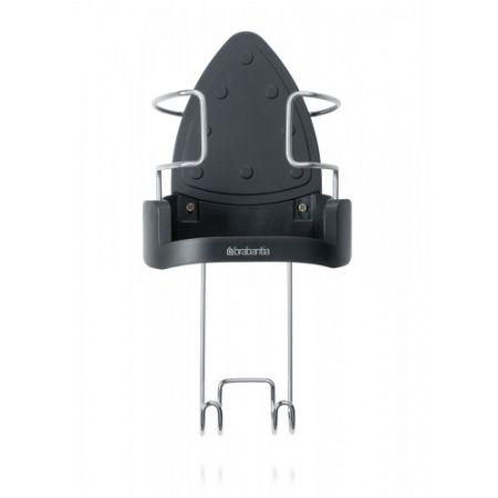 Storage Adjustable Hook Brabantia Ironing Board Hanger /& Iron Store Black