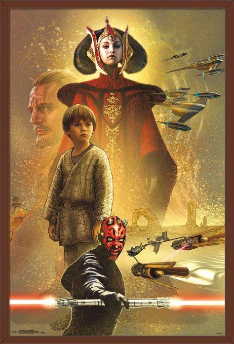 Star Wars: The Phantom Menace - Celebration Mural Poster Size: 22.375 inch x 34 inch, Multicolor