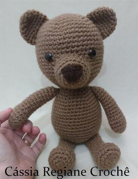 O queridinho em versão menor 30cm 🐻✈ Urso aviador #amigurumilove ... | 615x474