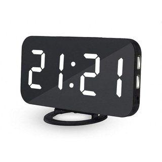 Digital Alarm Clock Stylish Led Clock With 2 Usb Ports Huge Display Brightness Adjustment In 2020 Alarm Clock Clock Digital Alarm Clock