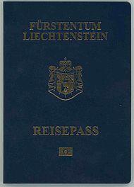 Liechtenstein biometric passport