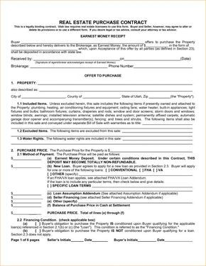 Real Estate Purchase Contract Purchase Contract Purchase
