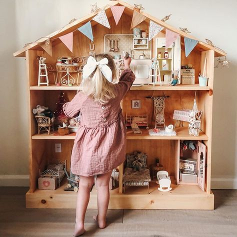 """Natalie Seel on Instagram: """"Daddy built this lucky little girl a mouse house and she has been in heaven! Merry Christmas baby girl I hope you enjoy it for many years…"""""""