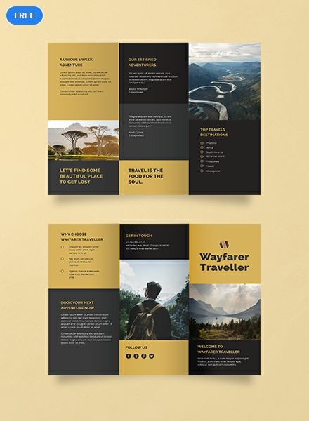 Free Tri Fold Travel Brochure Template Word Doc Psd Indesign Apple Mac Pages Illustrator Publisher Travel Brochure Template Travel Brochure Brochure Design Layout