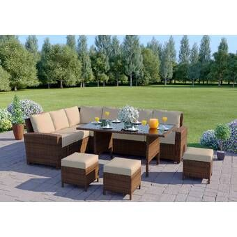 Saffy 5 Seater Rattan Sofa Set Luxury Garden Furniture Garden Furniture Sets Rattan Garden Furniture