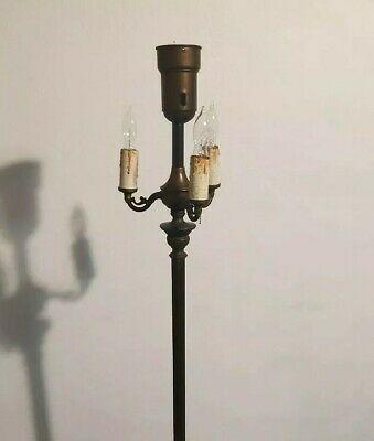 Vintage 1940s 50s Deena Torchiere Floor Ornate Candlestick Lamp In 2020 Candlestick Lamps Vintage Floor Lamp Adjustable Floor Lamp