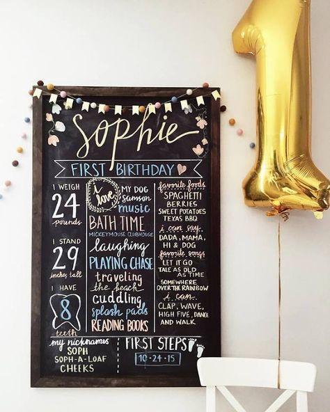 Classic Winnie The Pooh Party First Birthday Chalkboard - Megan Ella » Houston area lifestyle + wedding photographer