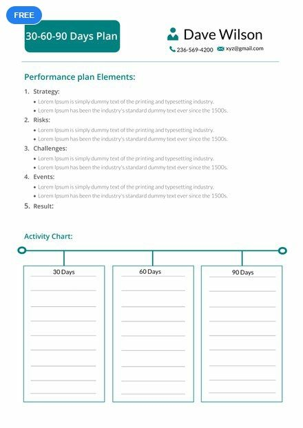 30 60 90 Days Plan Template Free Pdf Word Doc Google Docs 90 Day Plan Day Planner Template Action Plan Template