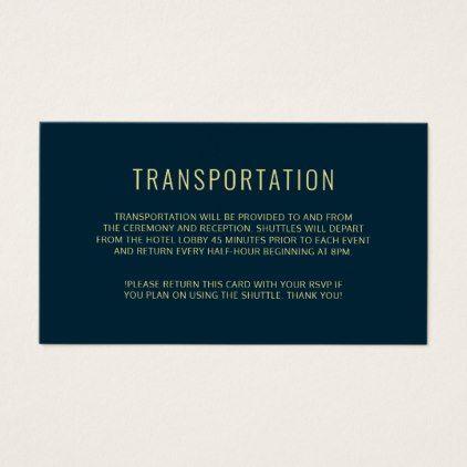 Modern Elegant Simple Wedding Transportation Card Zazzle Com Wedding Transportation Simple Weddings Modern Minimalist Wedding
