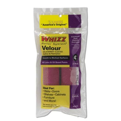 Whizz 51012 Velour Roller Covers 4 2 Pack Paint Roller Paint Couture Roller
