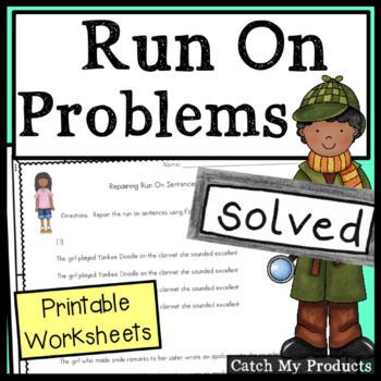 Pin On Products Fixing run on sentences worksheets