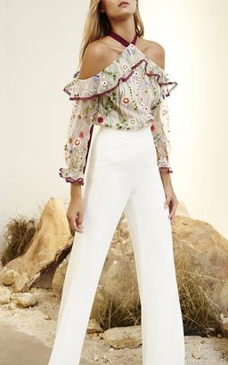 0aa4be1051659 Alexis Kylie Embroidered Cold Shoulder Top