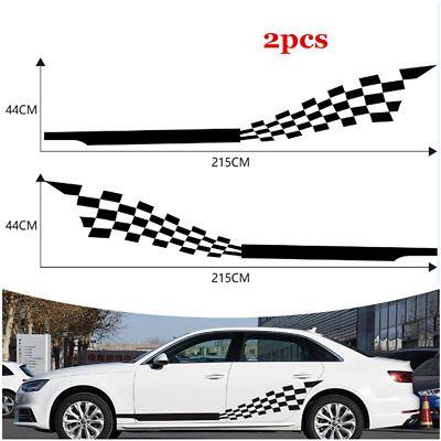 2x Racing Sport Checkered Flag Vinyl Decal Door Side Skirt Car Body Diy Sticker Car Sticker Design Racing Stickers Car Sticker Ideas