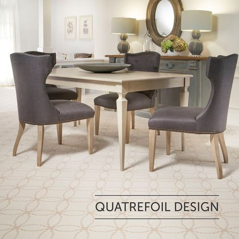 Learn more about this timeless design and how to incorporate it into your home!  |  Quatrefoil  |  Blog  |  Home Inspiration  |  Carpet Pattern