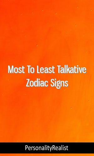 Most To Least Talkative Zodiac Signs #MBTI#INTP #ISFJ #ENFJ #ENTP
