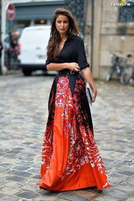 c786b9608 Faldas Largas de Vestir Elegantes | MAXI DRESS✅ | Faldas, Falda con ...