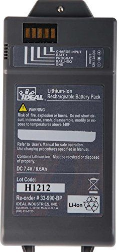 Ideal Industries 33 990 Bp01 Lithium Ion Battery For Lantek Ii Lithium Ion Batteries Battery Rechargeable Batteries